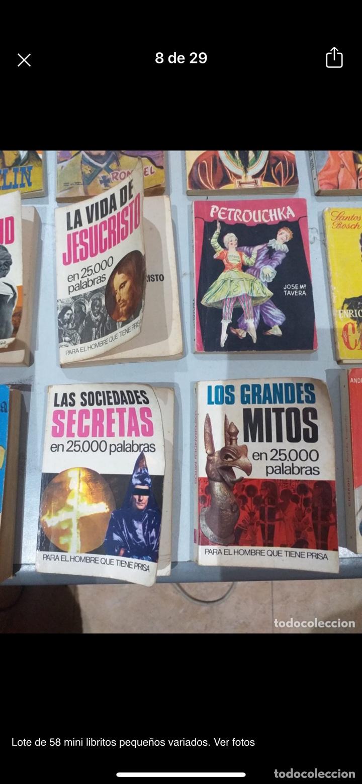 Libros: Lote de 58 mini libritos pequeños variados. Ver fotos - Foto 8 - 235279770