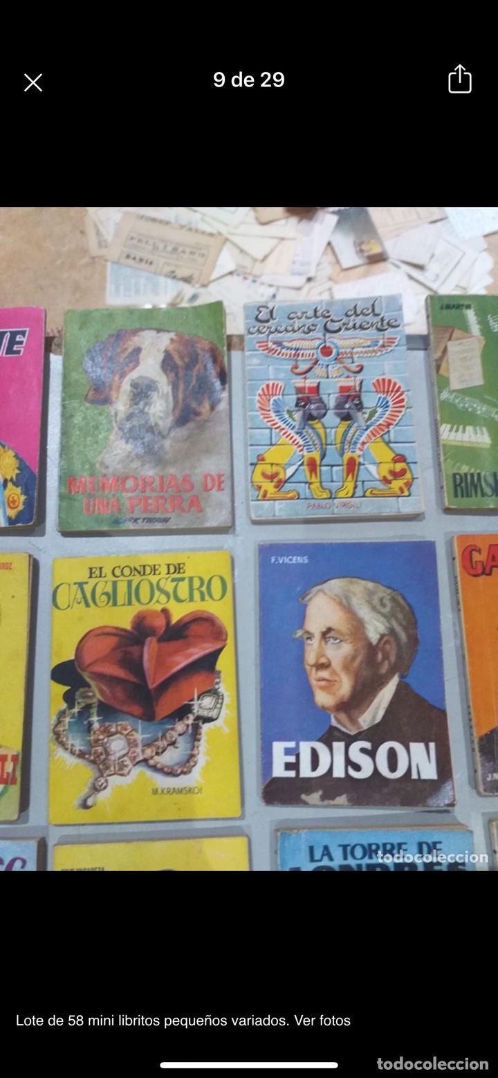 Libros: Lote de 58 mini libritos pequeños variados. Ver fotos - Foto 9 - 235279770
