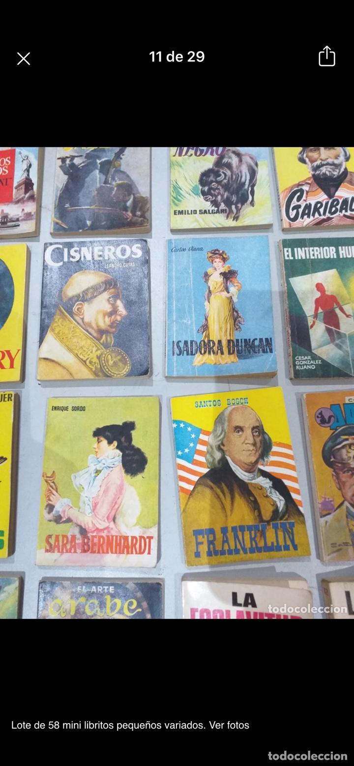 Libros: Lote de 58 mini libritos pequeños variados. Ver fotos - Foto 11 - 235279770