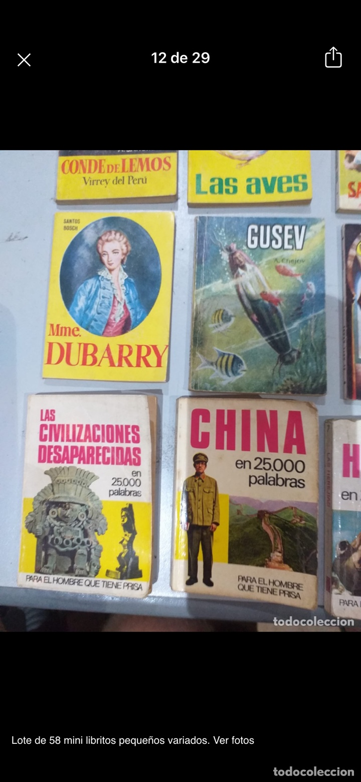 Libros: Lote de 58 mini libritos pequeños variados. Ver fotos - Foto 12 - 235279770