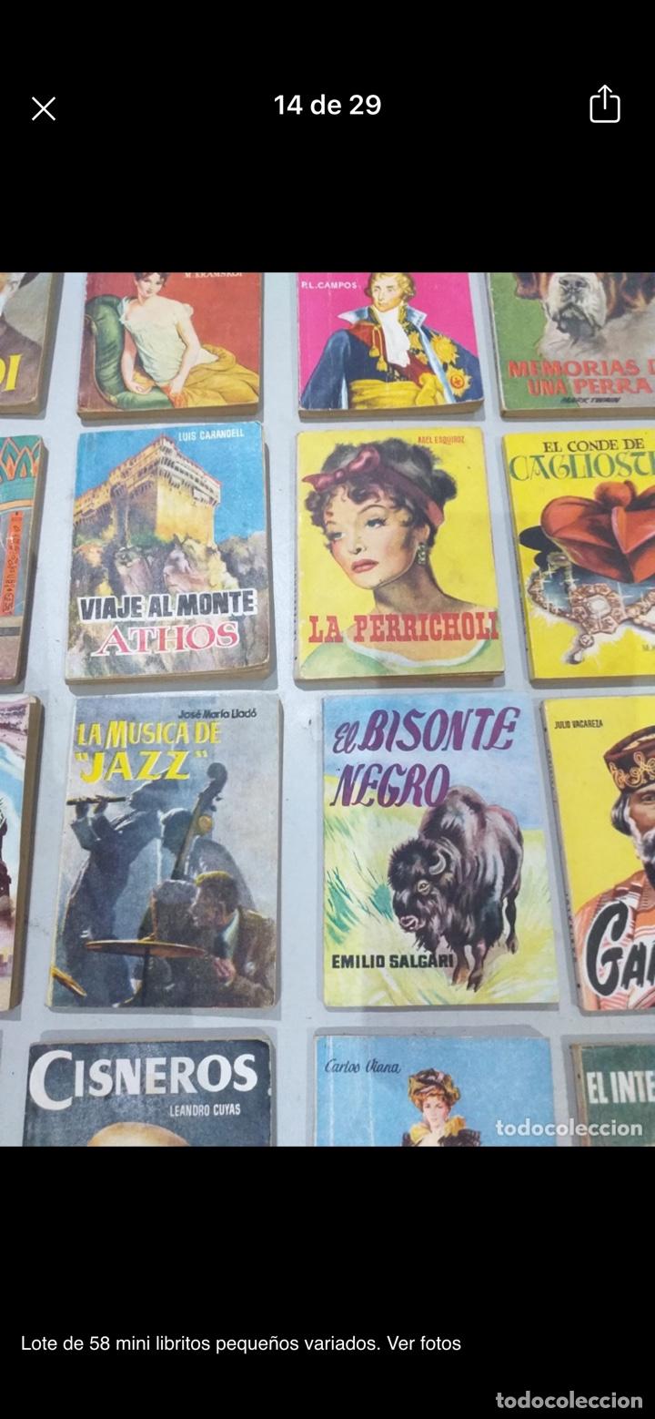 Libros: Lote de 58 mini libritos pequeños variados. Ver fotos - Foto 14 - 235279770