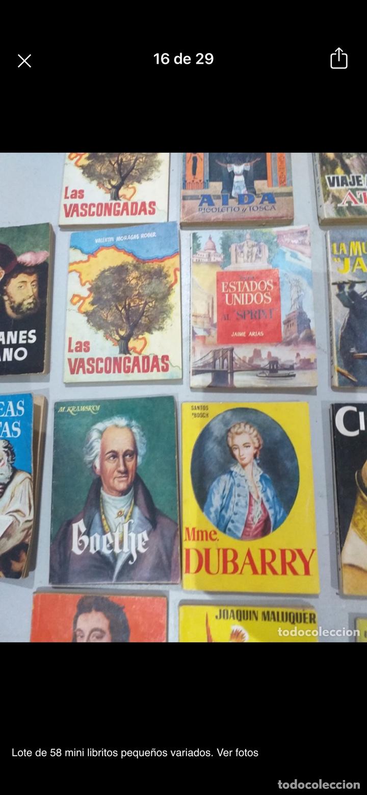Libros: Lote de 58 mini libritos pequeños variados. Ver fotos - Foto 16 - 235279770