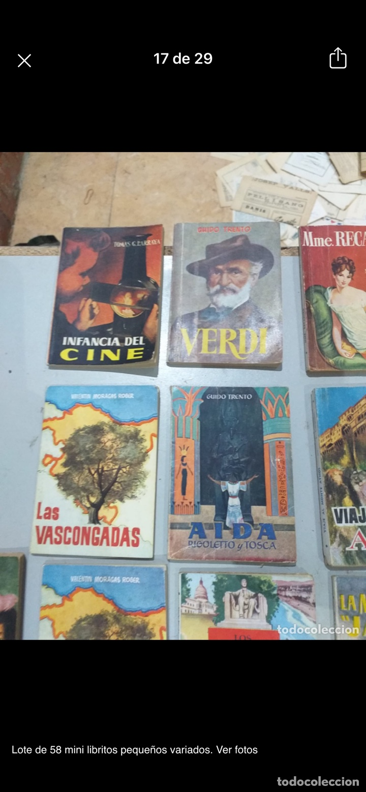 Libros: Lote de 58 mini libritos pequeños variados. Ver fotos - Foto 17 - 235279770