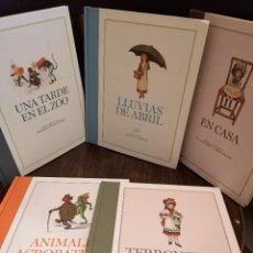 Libros: LOTE 5 ÁLBUMES ILUSTRADOS FACSÍMILES ANTIGUOS. Lote 246170930