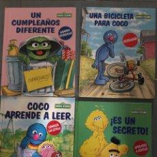 Libros: LOTE 4 CUENTOS BARRIO SESAMO PRECIOSAS ILUSTRACIONES AÑOS 90. Lote 254063725