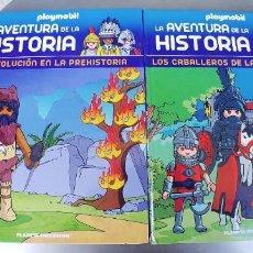 Libros: LA AVENTURA DE LA HISTORIA,PLAYMOBIL,LOS CABALLEROS DE LA EDAD MEDIA Y REVOLUCION EN LA PREHISTORIA,. Lote 263569450