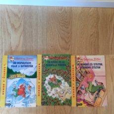 """Libros: . """"MI NOMBRE ES STILTON, GERONIMO STILTON"""", """"EN BUSCA DE LA MARAVILLA PERDIDA"""" """" EN BUSCA DE LA MARA. Lote 269478833"""