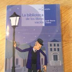 """Libros: """"LA BIBLIOTECA DE LOS LIBROS VACÍOS"""". Lote 269480538"""