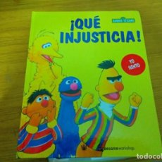 Libros: BARRIO SESAMO - QUE INJUSTICIA. Lote 276199273