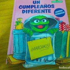 Libros: BARRIO SESAMO - UN CUMPLEAÑOS DIFERENTE. Lote 276199478