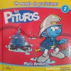 Libros: LIBRO LOS PITUFOS UN MUNDO DE PROFESIONES BOMBEROS. NUEVO!!, LIBRO SUELTO.. Lote 278416008