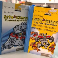 Livros: LOTE DOS LIBROS SITI KESITO - DAV PILKEY - EL BARCO DE VAPOR. Lote 282215978