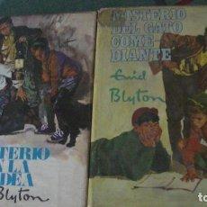 Libros: ENID BLYTON. MISTERIO DEL GATO COMEDIANTE + MISTERIO EN LA ALDEA. MOLINO (2 LIBROS). Lote 289230063