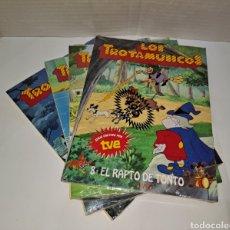 Libros: LOS TROTAMÚSICOS. ANAYA. LOTE DE 4 CUENTOS. NUEVOS. SIN LEER. PRECINTADOS. 1989. 3 - 4 - 5 - 8.. Lote 293959848