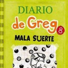 Libros: INFANTIL. JUVENIL. DIARIO DE GREG 8. MALA SUERTE - JEFF KINNEY (CARTONÉ). Lote 45990829