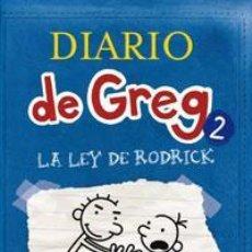 Libros: INFANTIL. JUVENIL. DIARIO DE GREG 2. LA LEY DE RODRICK - JEFF KINNEY (CARTONÉ). Lote 45991795