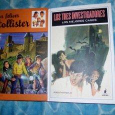 Libros: LOS TRES INVESTIGADORES Y LOS HOLLISTER. Lote 58017567