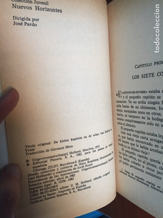 Libros: El pequeño capitán y el tesoro del pirata. Paul Biegel. Planeta/ Juvenil. 1982 - Foto 4 - 90212795