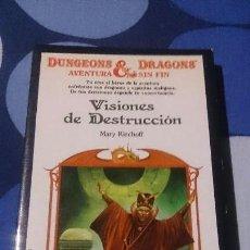 Libros: LIBROJUEGO DUNGEONS & DRAGONS AVENTURA SIN FIN VISIONES DE DESTRUCCIÓN TIMUN MAS 21. Lote 98500831