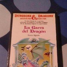 Libros: LIBROJUEGO DUNGEONS & DRAGONS AVENTURA SIN FIN LA GARRA DEL DRAGON TIMUN MAS 20. Lote 98501139