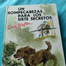 Libros: LIBRO UN ROMPECABEZAS PARA LOS SIETE SECRETOS. ENID BLYTON. ED JUVENTUD. 1970. 3 ED.. Lote 99377696