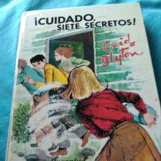 Libros: LIBRO CUIDADO SIETE SECRETOS. ENID BLYTON. ED JUVENTUD. 4 ED 1970. Lote 99378254