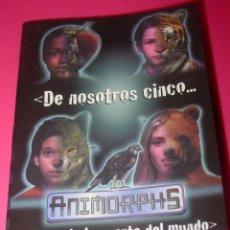 Libros: MINI LIBRO DE LA SERIE ANIMORPHS (DE NOSOTROS CINCO... DEPENDE LA SUERTE DEL MUNDO). Lote 142720310