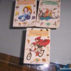 Libros: LOTE DE 3 TOMITOS DE ALFAGUARA - CAPERUCITA ROJA , LA REBELIÓN DE LAS LAVANDEDERAS Y RIZOS DE ORO. Lote 147476542