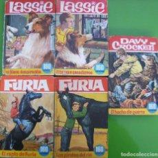 Libros: LOTE 5 LIBROS ILUSTRADOS - LASSIE, FURIA, DAVY CROCKETT. Lote 158696614