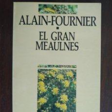 Libros: EL GRAN MEAULMES DE ALAIN-FOURNIER. NOVELA JUVENIL CON TRAMA DE INTRIGAS Y SUSPENSE.. Lote 183069355