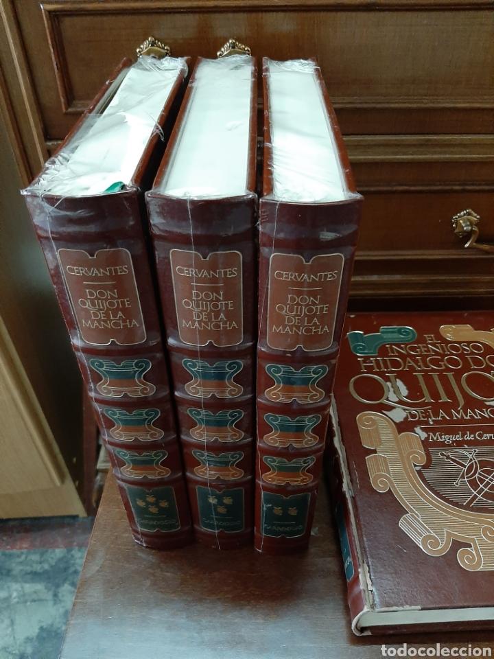 Libros: El ingenioso hidalgo don Quijote de la mancha, ediciones Carroggio. 4 volúmenes. - Foto 2 - 188723398