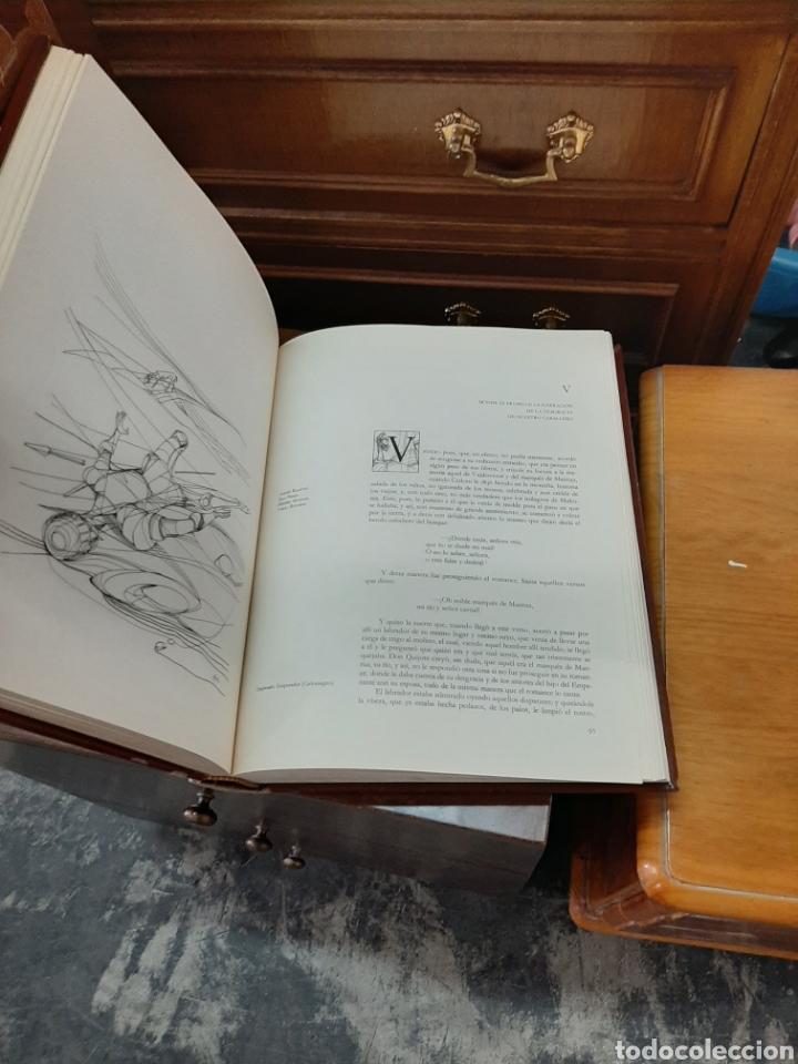 Libros: El ingenioso hidalgo don Quijote de la mancha, ediciones Carroggio. 4 volúmenes. - Foto 3 - 188723398