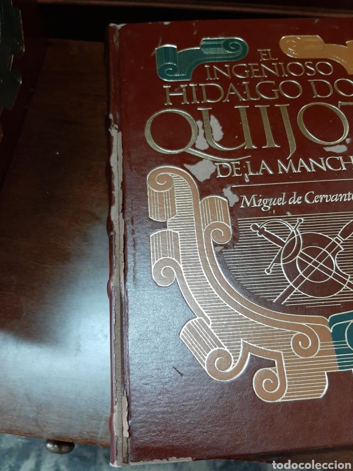 Libros: El ingenioso hidalgo don Quijote de la mancha, ediciones Carroggio. 4 volúmenes. - Foto 5 - 188723398