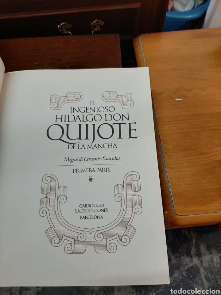 Libros: El ingenioso hidalgo don Quijote de la mancha, ediciones Carroggio. 4 volúmenes. - Foto 7 - 188723398