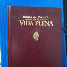 Livres: BIBLIA DE ESTUDIO DE LA VIDA PLENA REINA-VALIERA 1960. Lote 190882567
