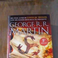 Libros: GEORGE R. R. MARTIN FUEGO Y SANGRE 5 EDICIÓN ILUSTRADO NUEVO!. Lote 196362232