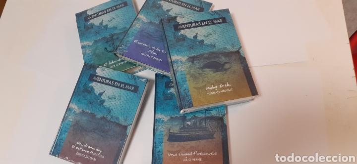LOTE DE 5 LIBROS DE JULIO VERNE,CONRAD,MELVILLE,SALGARI,LONDON (Libros Nuevos - Literatura Infantil y Juvenil - Literatura Juvenil)