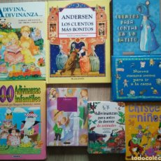 Libros: 8 LIBROS CUENTOS CLÁSICOS, ADIVINANZAS Y CHISTES. Lote 205570612
