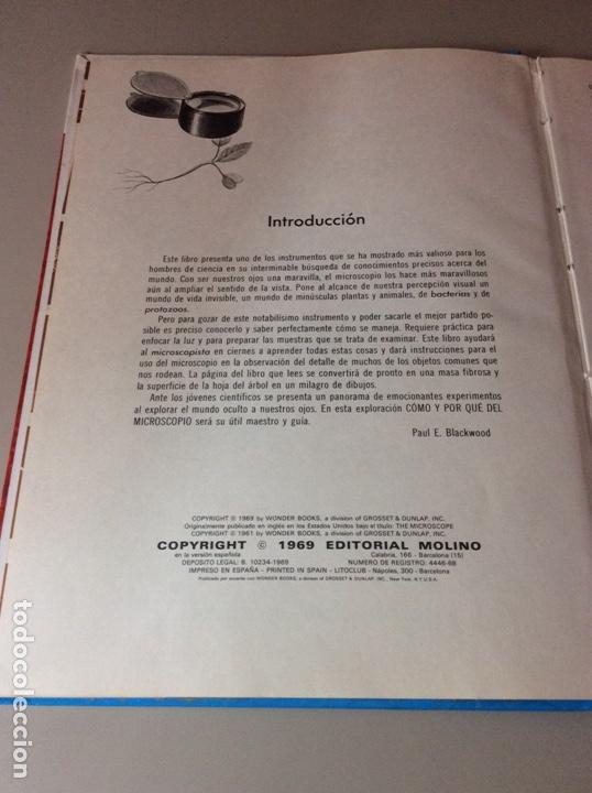 Libros: Como y Por que de Él Microscópico / Editorial Molino - Foto 3 - 206973196