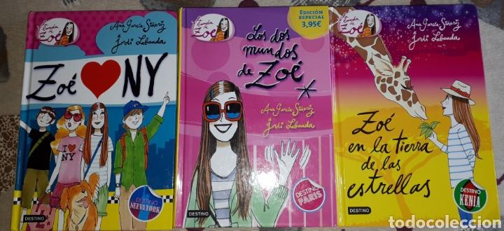 LOTE.3 LIBROS LOS MUNDOS DE ZOE. COMO NUEVOS. (Libros Nuevos - Literatura Infantil y Juvenil - Literatura Juvenil)
