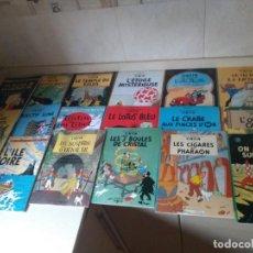 Libros: 17 LIBROS DE TINTIN EN FRANCES AÑO 1989 EDICIONES EL PRADO. Lote 213737766