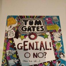 """Libros: LIBRO DE LITERATURA JUVENIL, """"TOM GATES:8, GENIAL! O NO? (NO HO SÉ)"""" AUTOR L.PICHON. Lote 217632441"""