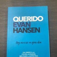 Libros: QUERIDO EVAN HANSEN. V. EMMICH/S. LEVENSON/ B.PASEK/J. PAUL. ED.CROSS BOOKS. Lote 222651596