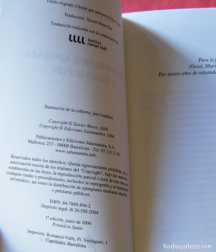 Libros: EL HOMBRE QUE ADORABA A JANIS JOPLIN - MAX RIERA, DETECTIVE ALTERNATIVO - XAVIER MORET - SALAMANDRA - Foto 3 - 228953250