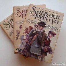 Libros: LOTE LIBROS SHERLOCK, LUPIN Y YO. VOLÚMENES 1,2,3 (IRENE ADLER). TAPA DURA. Lote 231040445