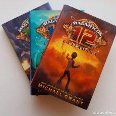 Libros: LOTE LIBROS LOS MAGNÍFICOS 12. VOLÚMENES 1, 2 Y 3 (MICHAEL GRANT). TAPA DURA. Lote 231043655