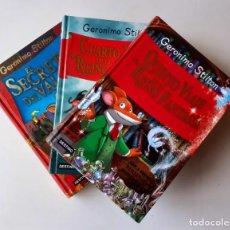 Livres: 3 LIBROS GERÓNIMO STILTON. TAPA DURA (EL SECRETO DEL VALOR, CUARTO Y QUINTO VIAJE AL REINO FANTASÍA). Lote 231045515