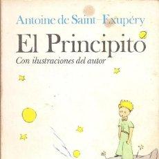 Libros: EL PRINCIPITO - ANTOINE DE SAINT EXUPERY (EDITORIAL ALIANZA 1980). Lote 236965355