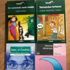 Libros: LOTE 4 LIBROS TUCAN - BROMERA - EDEBE. Lote 241707085