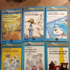 Livres: LOTE 6 LIBROS SM EL BARCO DE VAPOR EMILI TEIXIDOR - MICHAEL ENDE - ULF NILSSON. Lote 241707485